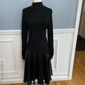 Zara Faux Leather Contrast Turtleneck Black Drop